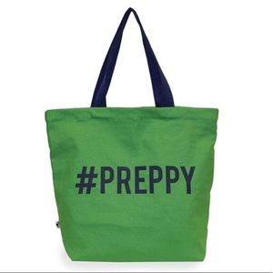 Handbags - 🆕Preppy Green Canvas Tote💕SALE💕